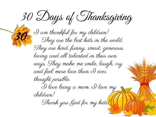 30 Days of Thanksgiving (1)