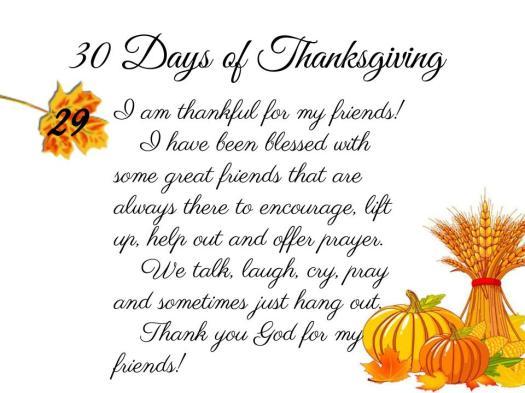 30 Days of Thanksgiving - 29