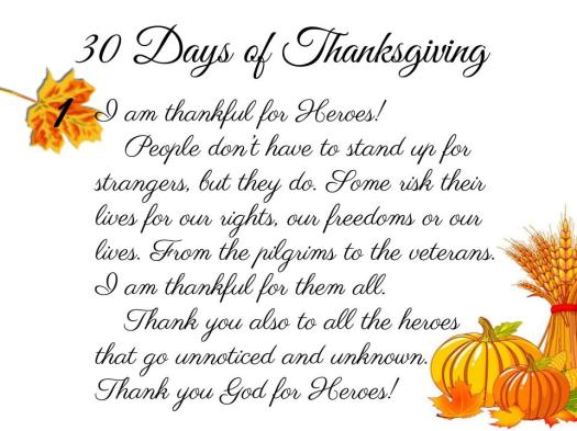 30 Days of Thanksgiving - 1