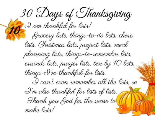 30 Days of Thanksgiving - 10
