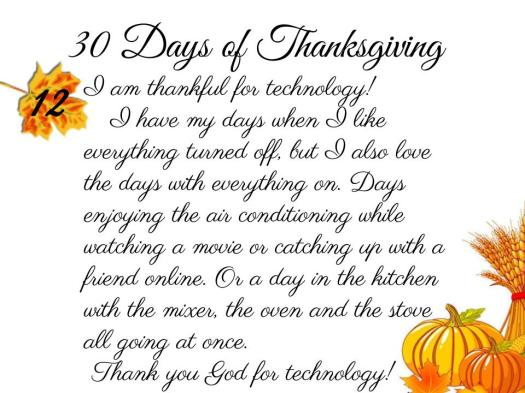 30 Days of Thanksgiving - 12