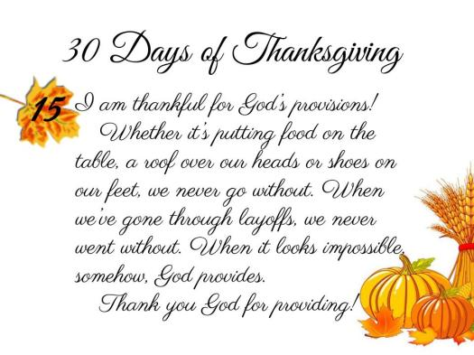30 Days of Thanksgiving - 15