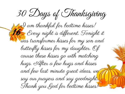30 Days of Thanksgiving - 16