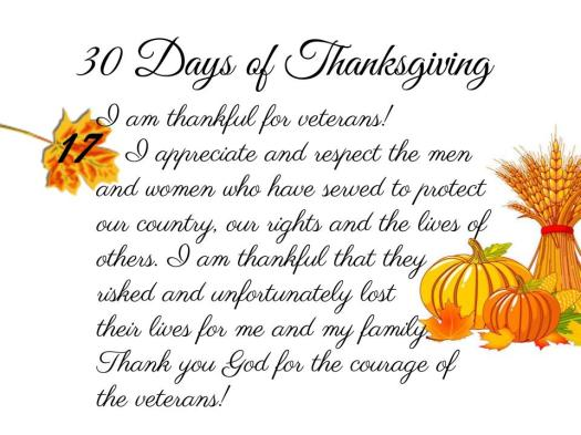 30 Days of Thanksgiving - 17