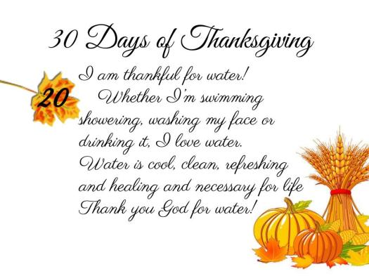 30 Days of Thanksgiving - 20