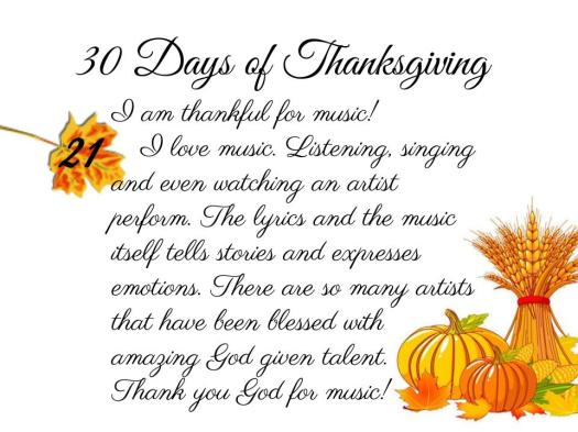 30 Days of Thanksgiving - 21
