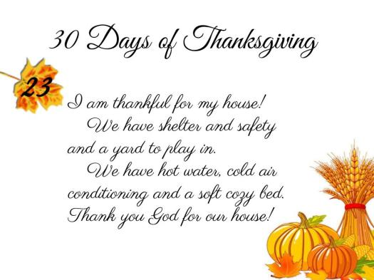 30 Days of Thanksgiving - 23