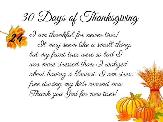 30 Days of Thanksgiving - 24