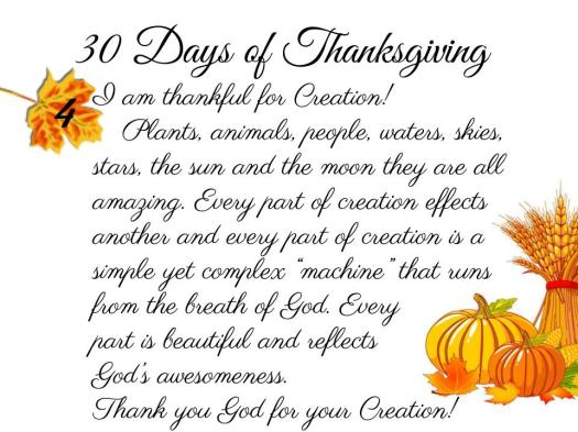 30 Days of Thanksgiving - 4