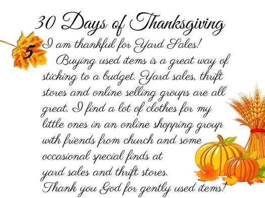 30 Days of Thanksgiving - 5