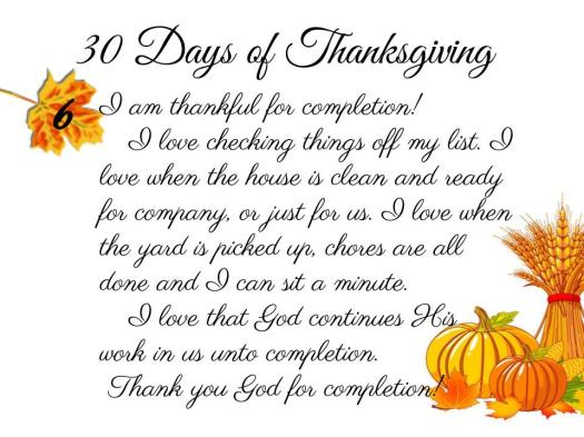 30 Days of Thanksgiving - 6