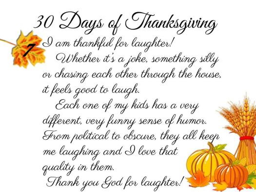 30 Days of Thanksgiving - 7