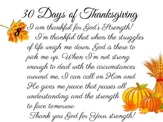 30 Days of Thanksgiving - 8