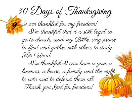 30 Days of Thanksgiving - 9